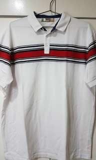 Bench Polo Shirt White/Red XXL