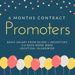 Bank Promoters || Basic Salary from $2,000 + Incentives  *6 months contract*
