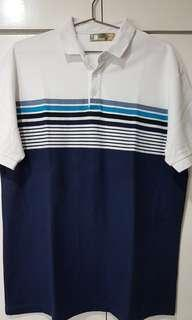 Bench Polo Shirt White/Blue