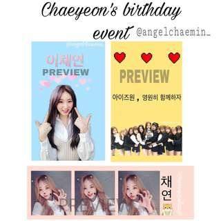 IZONE CHAEYEON BIRTHDAY EVENT ( 10 & 11 JAN )