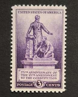 United States of America 1940. Thirteenth Amendment complete set of 1 stamp