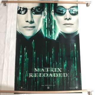 MATRIX RELOADED original movie poster