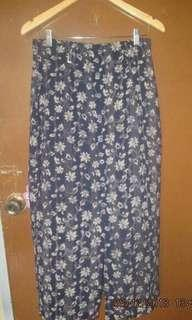 Buttons in front skirt