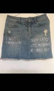 Rok jeans pendek Color Box