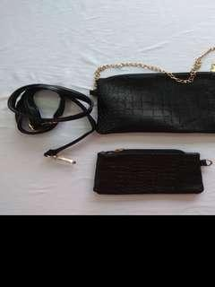 Clutch with strap and insert