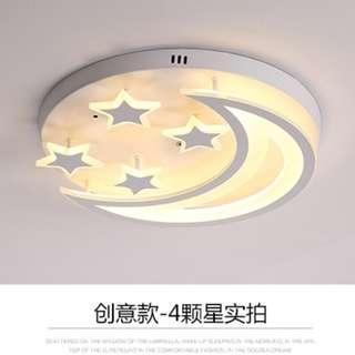 [出售] 簡約現代星星月亮 LED 吸頂燈 (Lamp/Ceiling Light/Star/Moon) 99% NEW