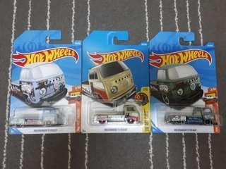 Hotwheels Lot of 3 VW T2 pickup