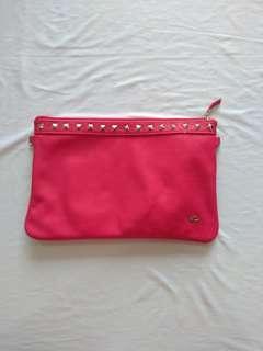 Pink Studded Clutch