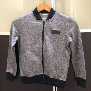 Pre loved H&M boy cardigan jacket black 6-8Y