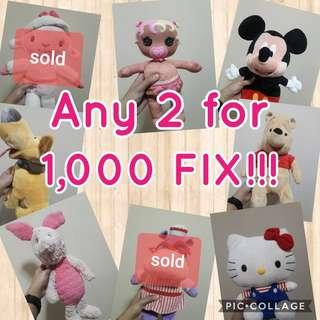 Doll sale any 2 for 1,000