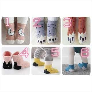 BN New Baby Newborn Girl Boy Cute Winter Fleece Thick Socks Sock Korean Kid Kids