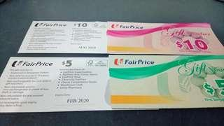 🚚 NTUC Fairprice Vouchers at 6% off.