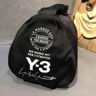 Y3 新款黑色旅行運動袋附塵袋