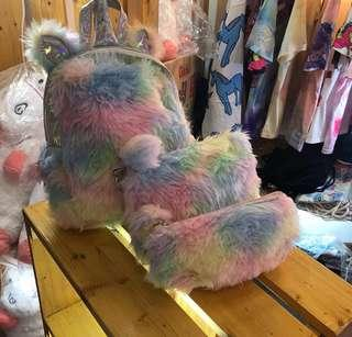 Unicorn fur backpack