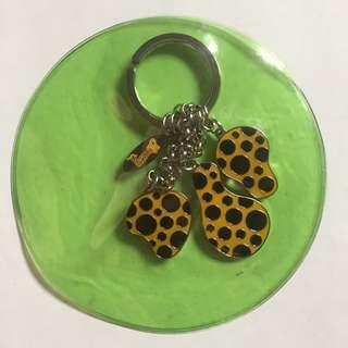 Yayoi Kusama Pumpkin 波點女王 草間彌生 南瓜婆婆 鎖匙扣- FMCA現代美術館 #掛飾#電話繩#Keychains#耳環 ear ring [聖經禮物] 村上隆