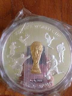 🚚 FIFA World Cup fine silver 1kg proof medalion