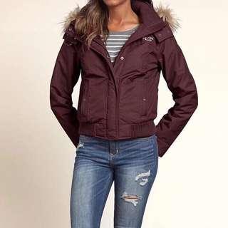 Hollister超保暖內襯海鷗連帽防水外套風衣大褸衝鋒衣 HCO All-weather Bomber jacket coat parka A&F Abercrombie & Fitch AF AEO