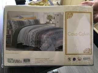 Casa Calvin 100% new (for 4尺半 x 6尺3 床)1 set 4 件