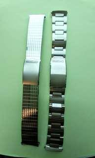 SEIKO 18mm 鋼錶帶2款(每條計)