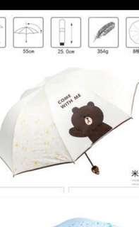 [1 for $20] [Line Friend] Brown Series Umbrella