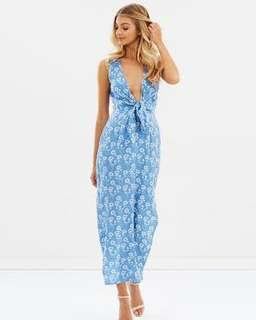 Atmos&Here Ally Tie Front Maxi Dress