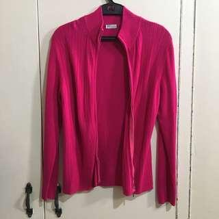 Repriced: Knit turtle neck jacket