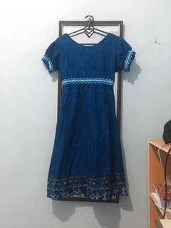 Dress batik (freeongkir)