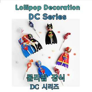 "$36/ 3 sets of lollipop decoration DC series  Bat Man + Superman + Wonder Woman  candy Cartoon gift wrap 棒棒糖""蝙蝠俠+超人+神奇女俠""造型包裝 糖果卡通禮品包裝"