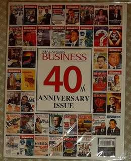 MALAYSIAN BUSINESS :40th Anniversary issue