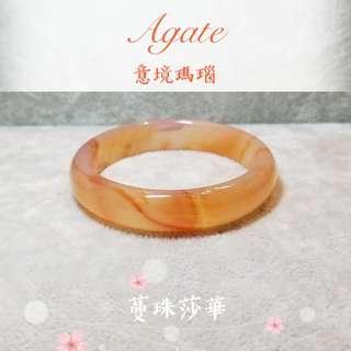 🎅聖誕月手鐲優惠🦌Special offers $499🔥🔥 【Agate】【意境瑪瑙手鐲~內徑56mm】 🌅浪漫的黃昏時分🌅溫柔橙紅色💖帶在手上非常搭配膚色👍🏻氣質款🧚🏻♀️
