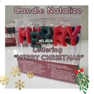 "Candle Natalizie Lettering ""MERRY CHRISTMAS"" candles 聖誕蠟燭裝飾"