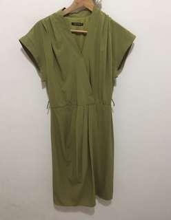 Work dress (olive green)