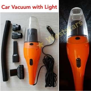 Car Vacuum Cleaner with Light, 12V 120W, 5m Long Cable