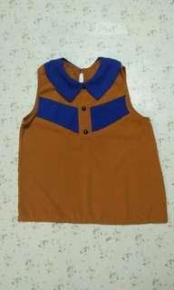 Blouse sleeveless & A skirt