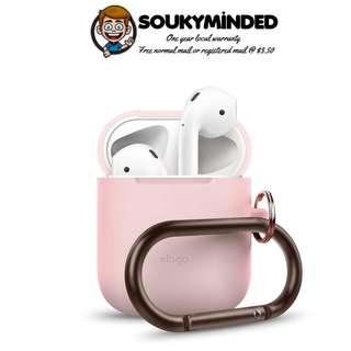 [IN-STOCK] elago AirPods Hang Case [Lovely Pink] - [Extra Protection] [Added Carabiner] - for AirPods Case