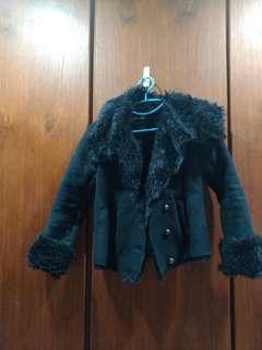 🚚 SLY 兩穿保暖麂皮外套