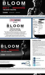Troye Sivan The Bloom Tickets x2