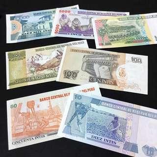 全新 秘魯幣 一套7張