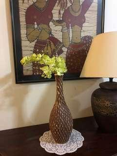 Vase with orchids