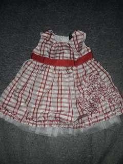Old Navy Red Checkered Dress