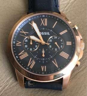 🚚 Fossil Blue Gold 男士手錶 men's watch