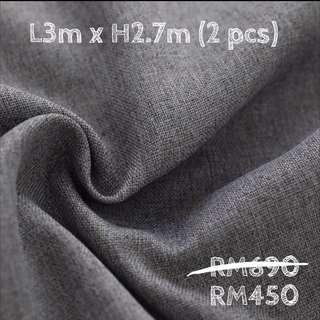 ✅ Finished 90% blackout curtain grey colour #SINGLES1111
