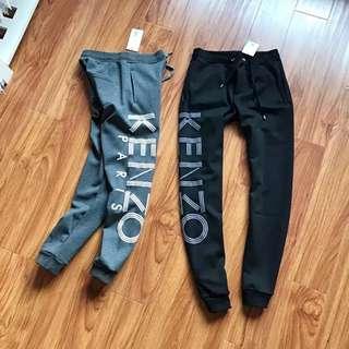 Kenzo 高田賢三 字母 刷毛長褲 棉褲 縮口褲