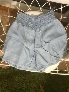 Mango denim cotton shorts
