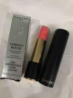 聖誕禮物推介 大特價 Lancome 唇膏 hydrating shaping lipcolor 361 (effortless chic cream) 原價$260
