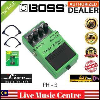 Boss PH-3 Phase Shifter Guitar Effect Pedal With Patch Cable (PH3)