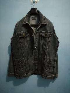 Roughneck Indigo Blue Trucker Denim Jacket Jeans XL