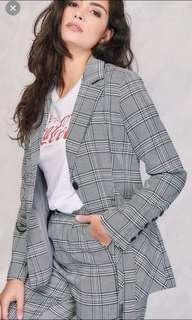 NINE+ Checkered Blazer