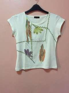 Smart casual hand painted design top