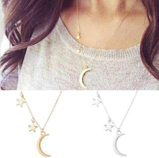 Moon and start necklaces